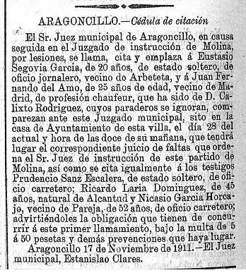 BOLETIN PROVINCIAL 24-XI-1911P
